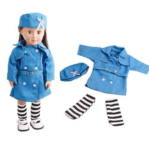 Poupées Clothes18inch, poupées Vêtements et accessoires infirmière uniforme Vneirw