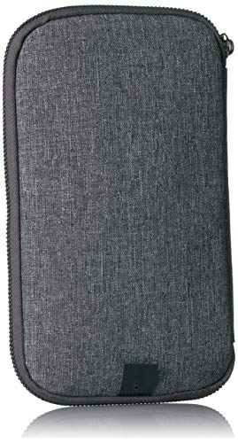 51HjrJB e0L - Travelon RFID Blocking Family Passport Zip Wallet, Gray Heather