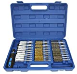 38pc Industrial Wire Brush Set Brushes Long Reach Round Tube Automotive Steel