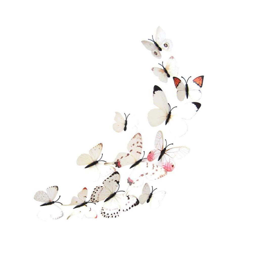 3D 3D Butterfly 12 (White) RUNFON