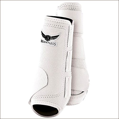 CACTUS ROPES Large Relentless All Around Horse Leg Sport Boot 4 Pack White
