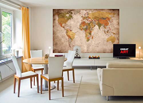 Wallpaper Used Look Wall Picture Decoration Globe