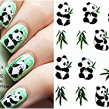 Panda Pattern Design Water Decals Transfers Nail Sticker by Abcstore99
