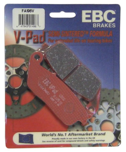 EBC Brakes FA196V Semi Sintered Disc Brake Pad (Fits Rear Only)