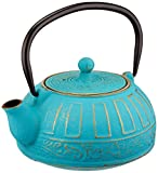 ExcelSteel 416t Cast Iron Teapot, Teal