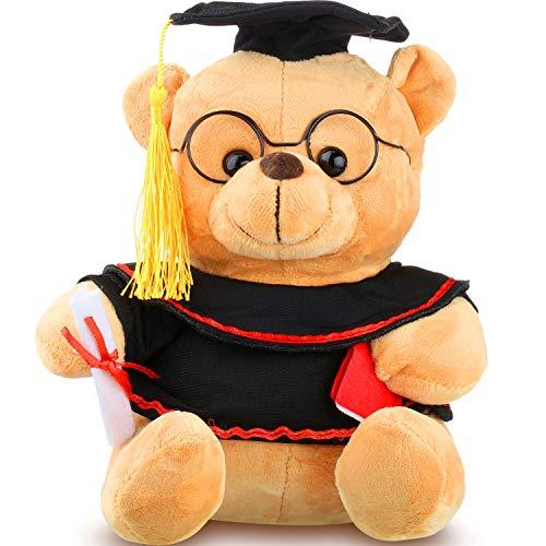 (Personalized Graduation Bear Plush Stuffed Animal Graduation Bear with Black Cap 2019 Graduation Gift for Table Shelf Home Decor)