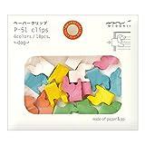 fan binder clip - Midori Paper Clips, Animal Dog, 18 Pieces (43297006)