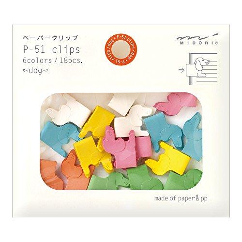 Midori Paper Clips, Animal Dog, 18 Pieces (43297006)