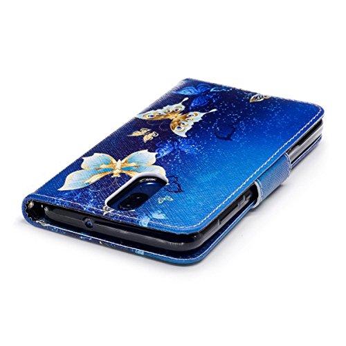 Huawei Mate 10 Lite Funda, Funda de Cuero PU para Huawei Mate 10 Lite, Lindo Panda Patrón Carcasa Cartera Flip de Piel PU Libro Billetera con Función de Soporte y Ranuras de Tarjeta para Huawei Mate 1 Flor de Oro