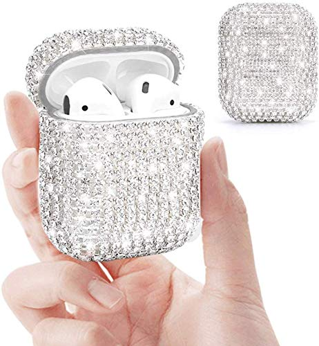King phone AirPods Case Bling Diamonds Luxurious Twinkly Cover Compatible with Apple AirPods 2/1 Resistant Cover Case…