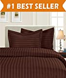 Difference Between King Bed and California King Bed Elegant Comfort 15RW-Stripe-Dvt-K-Chocolate K