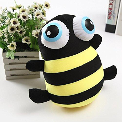 edealing(TM) Cute Big Eye Bee Doll Cartoon Animal Pillow Plush Stuffed Toy For Kids Baby -10.24