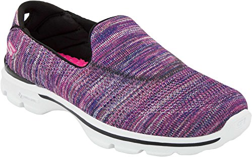 Skechers Performance Womens Go Walk 2 Slip-on Walking Shoe (37-38 M Eu / 7.5 B (m) Us, Viola / Multi Maglia)