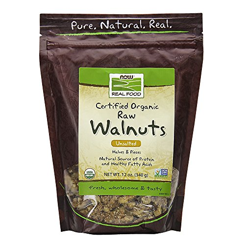 NOW Foods Walnuts Organic 12 Ounce