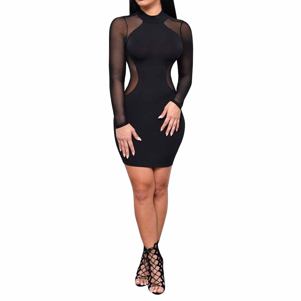 Fashion Casual Women Off The Shoulder Solid One Word Collar Long Sleeve Bow Mini Dress