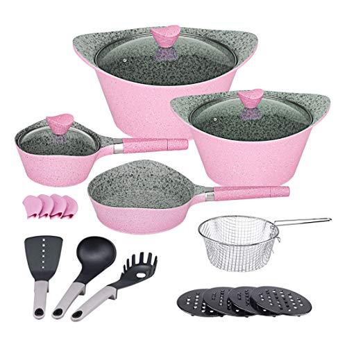 Ceramic Cookware Sets Dishwasher Safe Nonstick Aluminum Indu