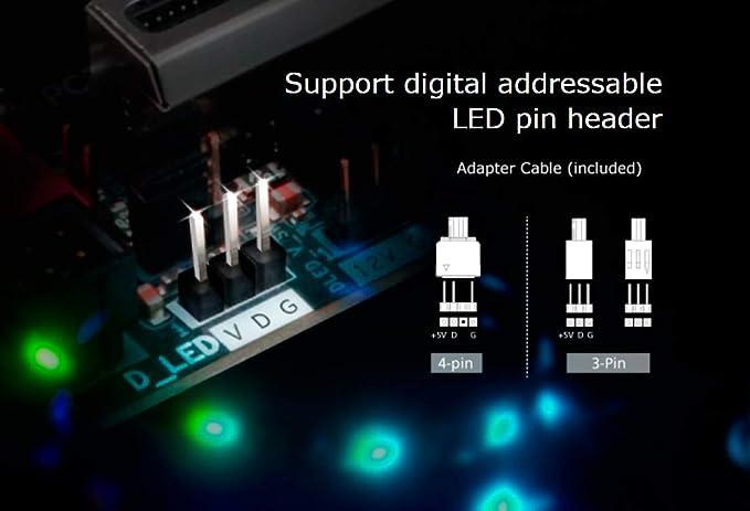 Akasa Vegas MBA 60 cm Digital Addressable RGB LED Light Strip