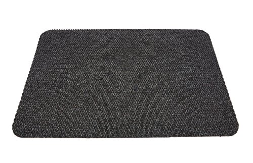 "Emerald Wholesale Hedge Hog Ridged Scraper Mat with Rubber Non-Skid Backing, 22 x 35"", Black"