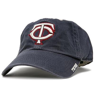 MLB Minnesota Twins Ice Adjustable Hat, One Size, Navy