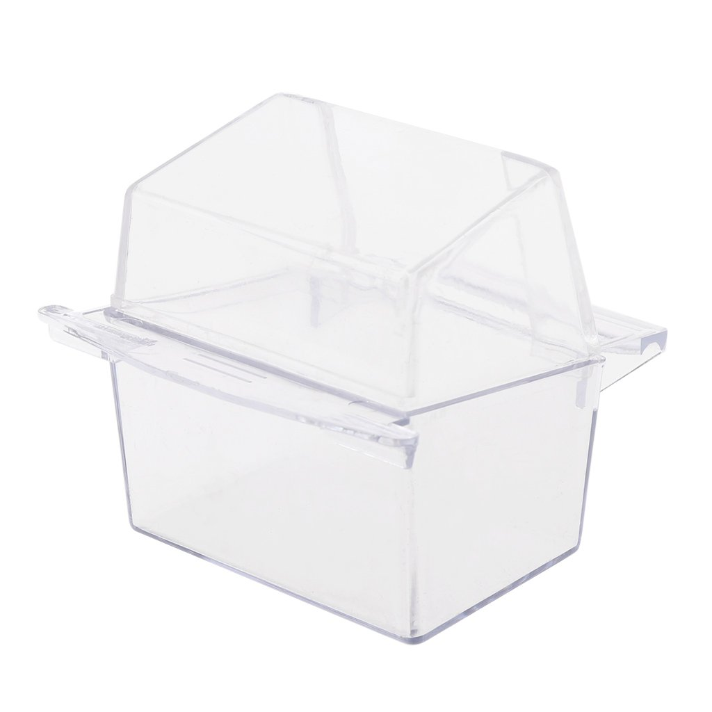 yaonow Acrylic Pet Products Hooded Bird Cage Plastic Cup