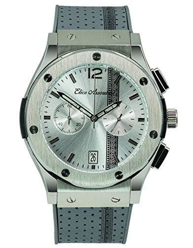 Elico Assoulini SU5975944 The Assoulini Men's Luxury Wrist Watch - Japanese Quartz Chronograph - 54.5mm Case Size, Gunmetal -