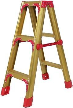 C-J-Xin escalera de aleación de aluminio que espese, resistencia a la corrosión ligera Las escaleras de mano obra de construcción/jardín/huerto/patio de escalera Escalera de casa: Amazon.es: Bricolaje y herramientas