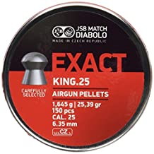 JSB Diabolo Exact King .25 Caliber Air Gun Pellets 150 ct.