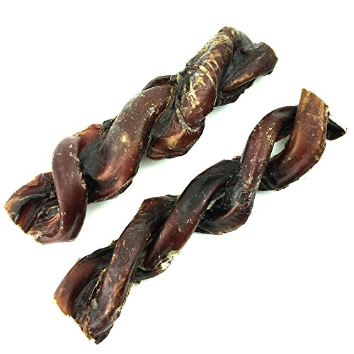 Peppy Pooch 6 Braided Bully Sticks - 6 Pack. All-Natural American Beef Chews for Dogs. Made in USA.