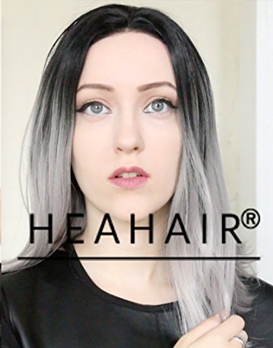 Heahair Fashion New Style Affortable Bob Handtied Synthetic Lace Front Wig (Ombre Grey1) (Geisha Costume Australia)