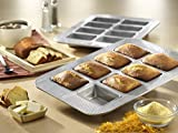 New 8 Well Mini Non Stick Steel Baking Cake Loaf Pan with Kitchen Tools Combo