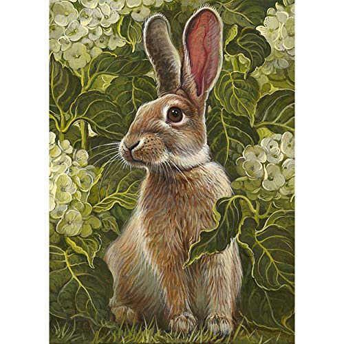 DIY 5D Diamond Painting by Numbers Kits, Rabbit Flowers, used for sale  Delivered anywhere in USA