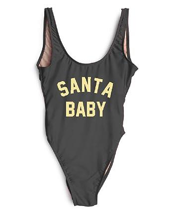 53c8c0404d2 HK One Piece Swimsuit Santa Baby Thong Bikini Suit Christmas Party Sexy  Beachwear
