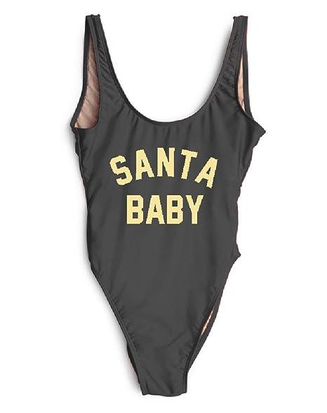 Christmas One Piece Swimsuit.Hk One Piece Swimsuit Santa Baby Thong Bikini Christmas