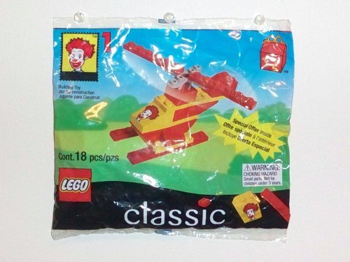 1999 McDonald's Happy Meal Toy- Lego Classic (2032) Ronald McDonald's Helicopter # 1