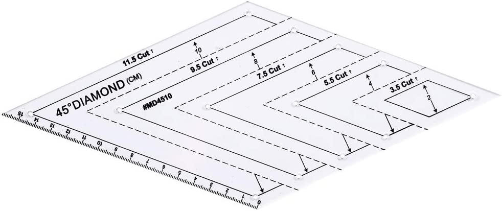 4er Set Dreieck//Parallelogramm//Trapez//Sechseck Cuigu Patchwork Crafts Lineal