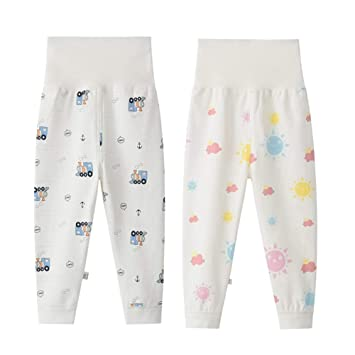ddcf80e54940d ALLAIBB ベビー服 ボトムス 長ズボン 腹巻き付き パジャマ ロングパンツ コットン 普段着 肌着 男の子 女の子 size