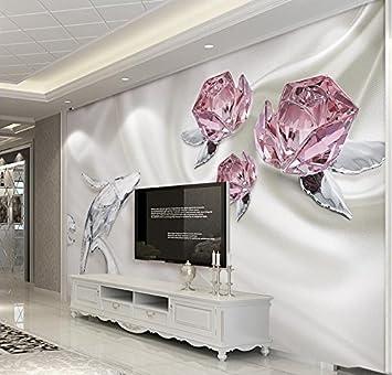 Yosot Custom 3D Fototapete Mode Crystal Rose 3D-Wandbilder ...
