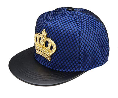 REINDEAR Royal King Crown Baseball Cap Hip-hop Snapback Hat (Blue) (Crown Royal Cap)
