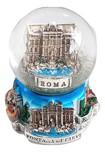 Italiano Souvenir Snowdome Italy Snow Globe Rome Fontana Di Trevi.Trevi Fountain H-96mm
