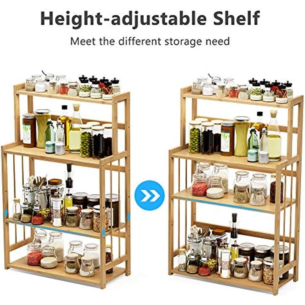 4-Tier Standing Spice Rack Kitchen Bathroom Countertop