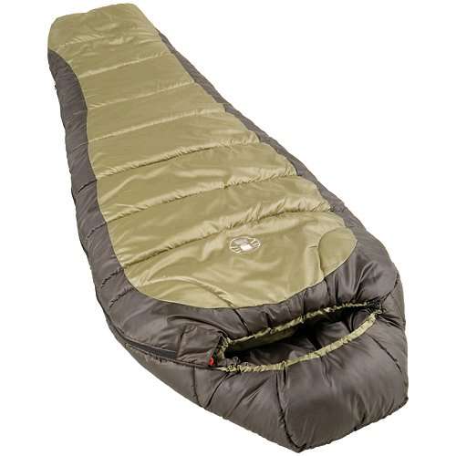Mummy-style adult sleeping bag for camping in temperatures as low as 0 degrees Fahrenheit