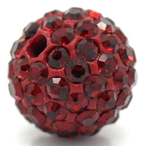 RUBYCA Pave Czech Crystal Disco Ball Clay Beads fit Shamballa Jewelry (20pcs, 10mm, Dark (Clay Beads)