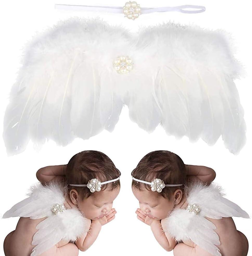juego de alas de /ángel para beb/és y reci/én nacidos diadema y alas BESLIME Baby Photography Props Juego de accesorios para fotograf/ía de /ángel reci/én nacido Perfecto para fotos y fotos blanco