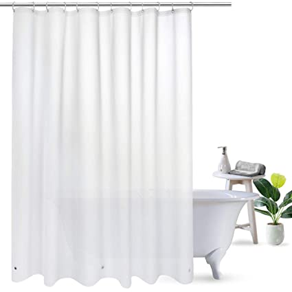 72Wx72L Semi Transparent Ufriday 18 Gauge Heavy Duty PEVA Shower Curtain Liner 72