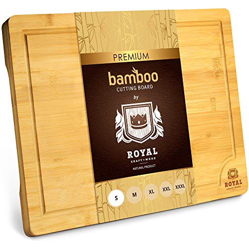 Bamboo Cutting Board with Juice Groove – Kitchen Chopping Board for Meat (Butcher Block) Cheese and Vegetables | Heavy…