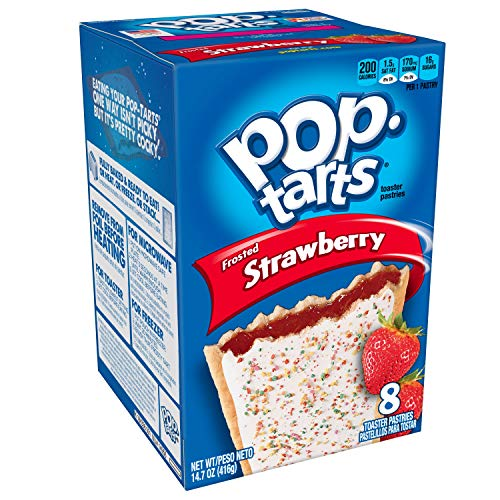 Pop-Tarts Breakfast Toaster Pastries, Frosted Strawberry Flavored, Bulk Size, 96 Count (Pack of 12, 14.7 oz Boxes) ()