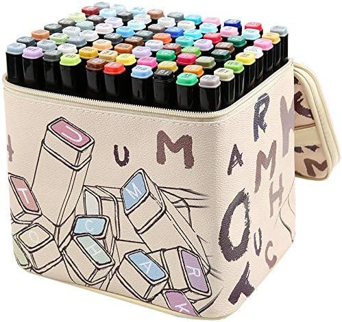 mychoose Rotuladores de Doble Punta 30/40/60/80 Colores con Bolsa de Almacenamiento, rotuladores con Base de Alcohol, para niños, Adultos, Pintura, Dibujo, Arte, 80 Colors: Amazon.es: Hogar