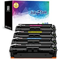 INK E-SALE Compatible Toner Cartridge Replacement for HP CF410A 410A CF411A CF412A CF413A (KCMY, 4 Packs), for use with HP Color Laserjet Pro M477fdw M477fnw M477fdn M477, M452dw M452nw M452dn M452