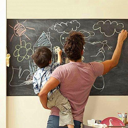 Ohuhu® 80pcs Tafeletiketten Aufkleber Tafel-Sticker Tafelfolie selbstklebend Tafelaufkleber Tafel-Aufkleber mit 2 Liquid Chalk Marker Pen- perfekt für Marmeladengläser, Biergläser, Weingläser, Speicherunggläser (groß)