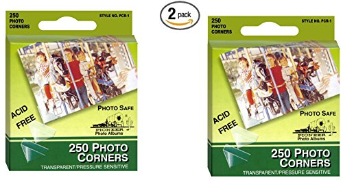 Pioneer Photo Corners Self Adhesive, Clear, 250-Pack (2 pack) by Pioneer